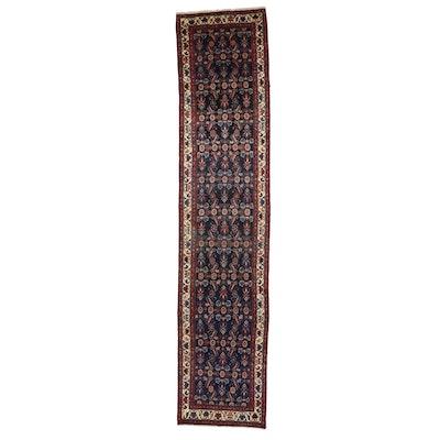 3'5 x 16'7 Hand-Knotted Persian Hamadan Herati Carpet Runner