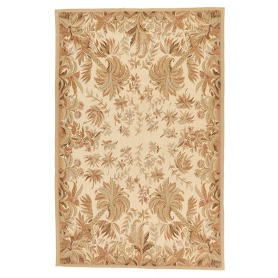 5'11 x 9'2 Handwoven French Tapestry Style Area Rug