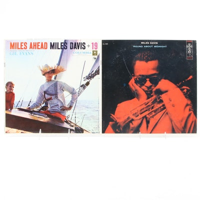 "Miles Davis ""'Round About Midnight"", ""Miles Ahead"" Vinyl Mono LP Records"