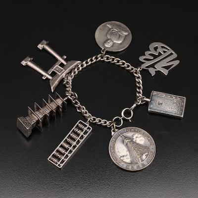 Asian 1950s Japanese Travel Charm Bracelet