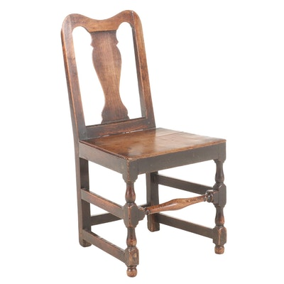 English Queen Anne Oak Side Chair, Early 18th Century