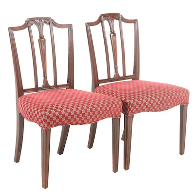 Pair of George III Mahogany Side Chairs, Early 19th Century