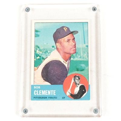 1963 Bob Clemente Topps #540 Pittsburgh Pirates Baseball Card
