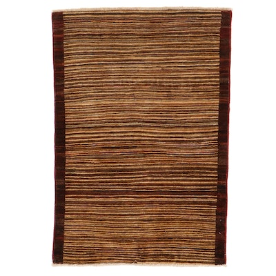 3'1 x 4'8 Hand-Knotted Pakistani Gabbeh Area Rug
