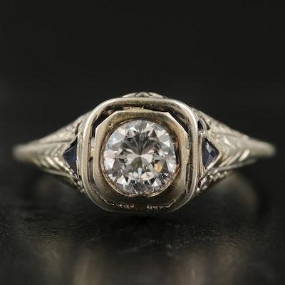 Victorian 18K Diamond Ring with 14K Setting