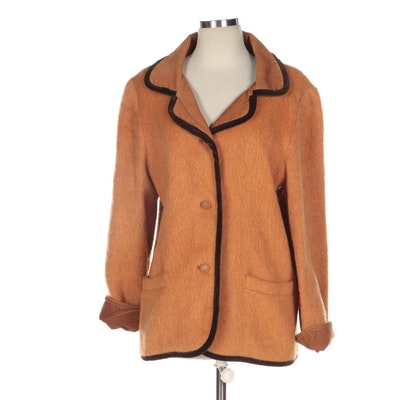 Mohair and Corduroy Jacket with Velvet Trim
