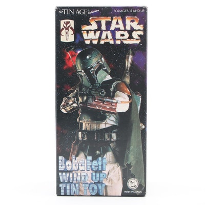 Star Wars Boba Fett Wind-Up Walking Tin Toy, 1990s