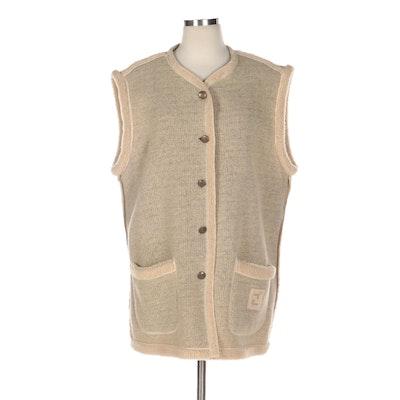 Fendi Jeans Sherpa Outerwear Vest
