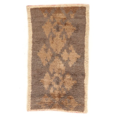 4'3 x 7'1 Hand-Knotted Moroccan Shag Area Rug