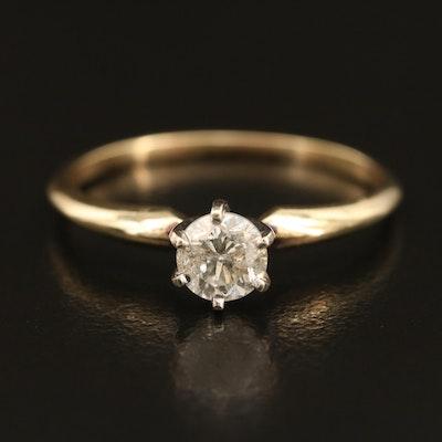 14K 0.61 CT Diamond Solitaire Ring