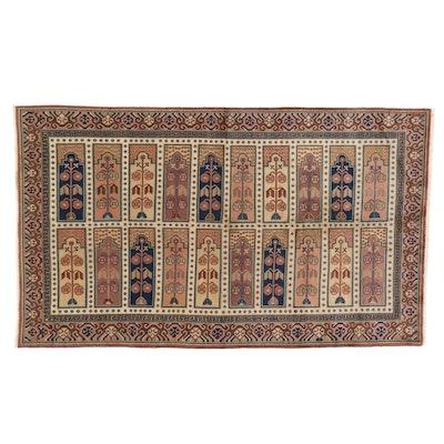 5'2 x 9'7 Hand-Knotted East Turkestan Khotan Saph Style Area Rug
