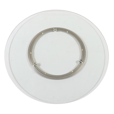 Tempered Glass and Metal Lazy Susan