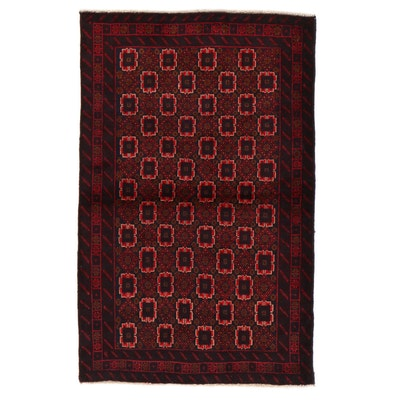 3' x 4'8 Hand-Knotted Afghan Baluch Area Rug