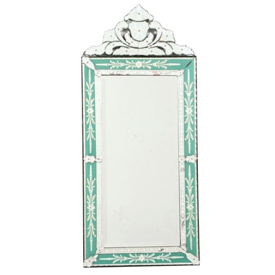Venetian Style Reverse-Etched Pier Mirror, 20th Century
