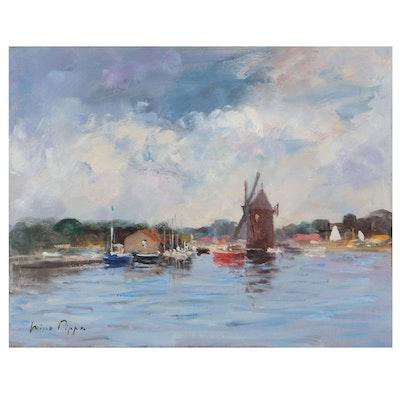 "Nino Pippa Oil Painting ""In the Footsteps of Van Gogh,"" 2017"