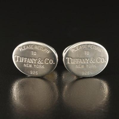"""Tiffany & Co. Sterling Silver """"Return to Tiffany"""" Cufflinks"""