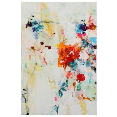 "Mark Whitmarsch Acrylic Painting ""Divine Garden"" Series, 21st Century"