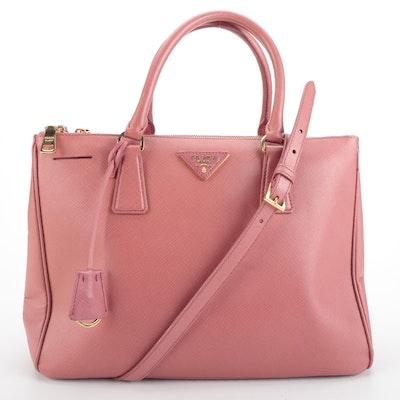 Prada Saffiano Leather Two-Way Handbag