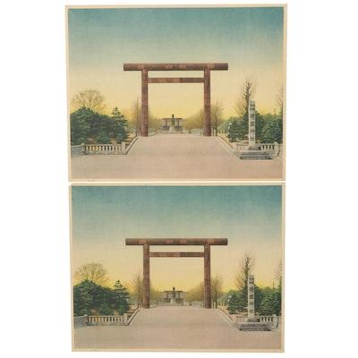 Offset Lithographs of Karafuto Shrine