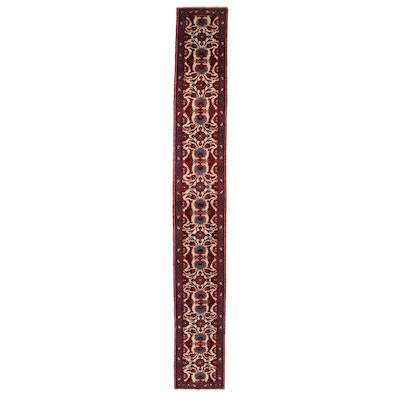 2'7 x 19'2 Hand-Knotted Persian Kashan Carpet Runner