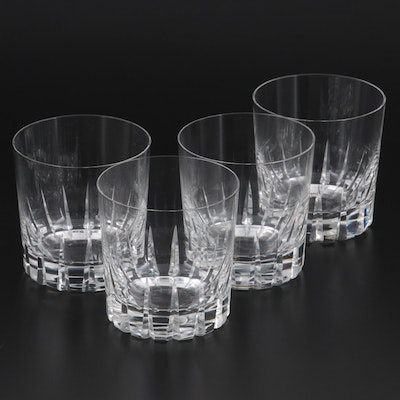 """Rosenthal """"Tivoli"""" Crystal Double Old Fashioned Glasses, Late 20th Century"""