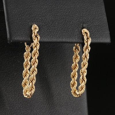 14K Rope Chain Earrings
