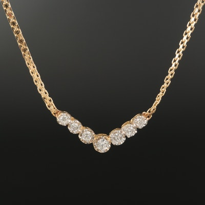 14K 0.44 CTW Diamond Illusion Set Necklace