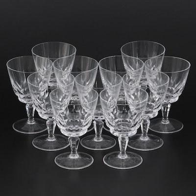 "Franconia ""Regent"" Crystal Wine Glasses"