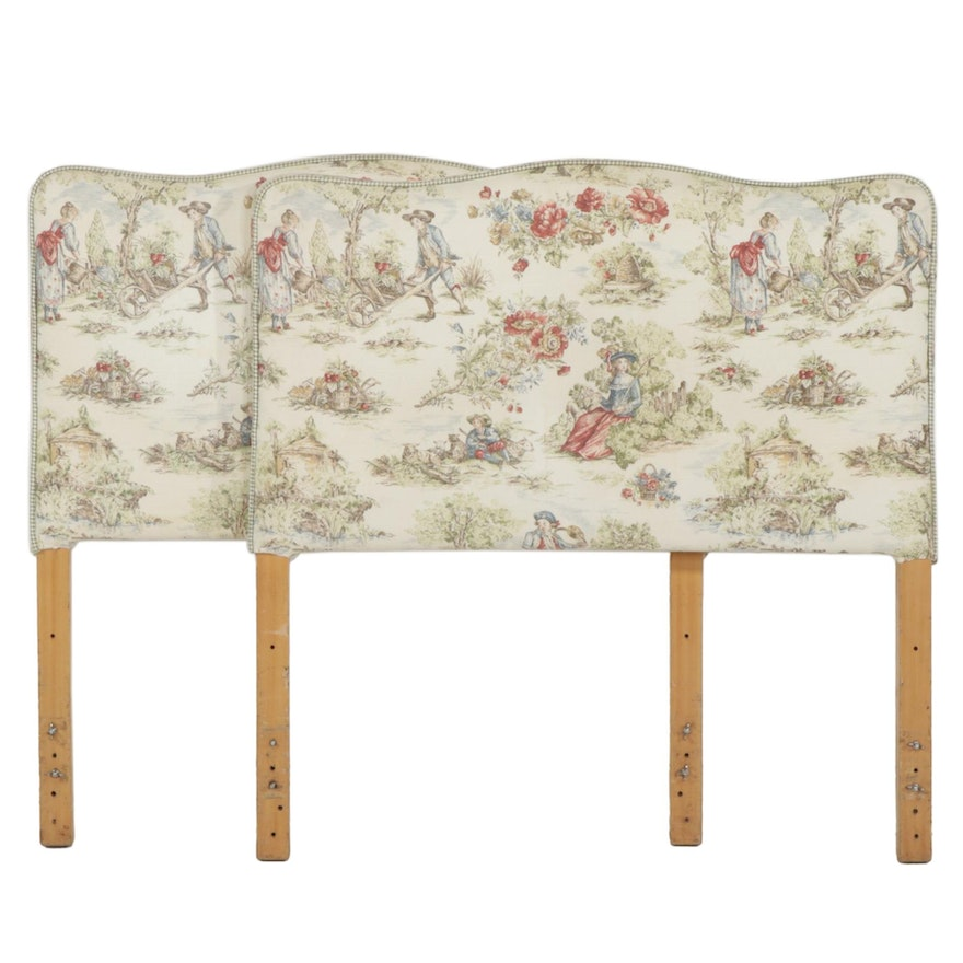Pair of Upholstered Twin Size Headboards