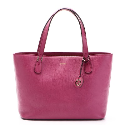 Gucci Lady Dollar Small Shopping Tote in Grained Leather