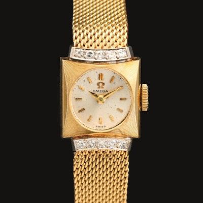 14K Omega Diamond Wristwatch, Circa 1962