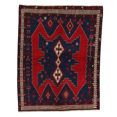 5'5 x 7'2 Hand-Knotted Persian Afshar Area Rug