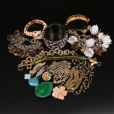 Necklaces and Bracelets Including Sterling, Ann Taylor and Fornash