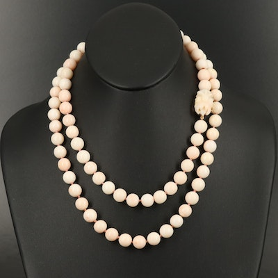 14K Coral Beaded Necklace