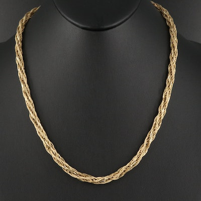 Galaxy Gold Braided 14K Chain Necklace