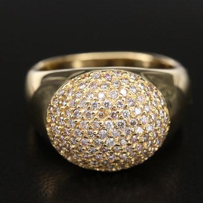 18K 1.03 CTW Pavé Diamond Ring