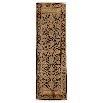 3'1 x 9'10 Hand-Knotted Indo-Turkish Oushak Long Rug