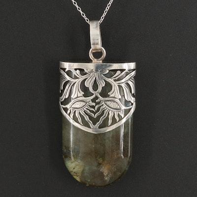 Sterling Silver Labradorite Pendant Necklace