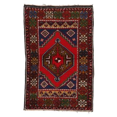 3'8 x 5'9 Hand-Knotted Turkish Taşpınar Area Rug