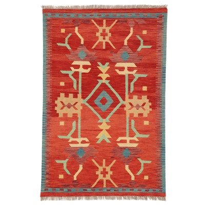 3'4 x 5'2 Handwoven Afghan Kilim Area Rug
