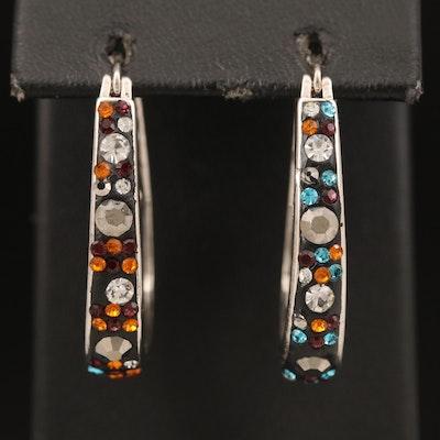 Rhinestone Inside-Out Elongated Earrings