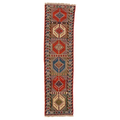 2'8 x 9'8 Hand-Knotted Persian Yalameh Carpet Runner
