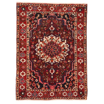5'3 x 7'2 Hand-Knotted Persian Shahr-e Kord Area Rug