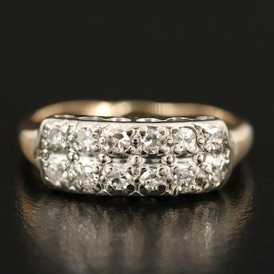 14K 0.28 CTW Diamond Double Row Ring