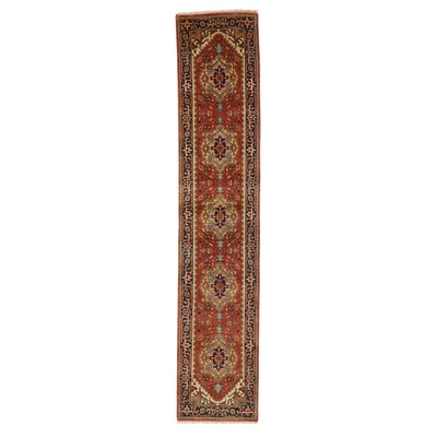 2'7 x 13'2 Hand-Knotted Persian Heriz Carpet Runner