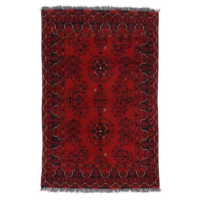 3'4 x 5'3 Hand-Knotted Afghan Kunduz Area Rug
