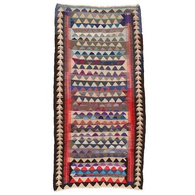 4'3 x 9' Handwoven Persian Kilim Long Rug