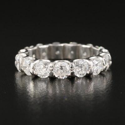 Platinum 3.55 CTW Diamond Eternity Band