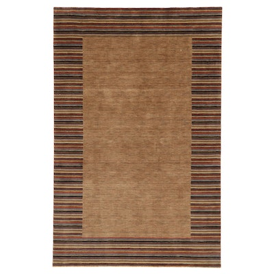 5'3 x 8'2 Hand-Knotted Indo-Persian Gabbeh Area Rug