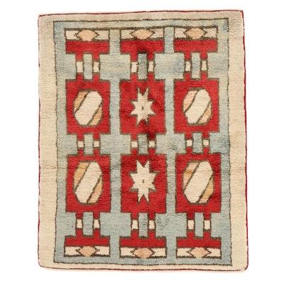 4'9 x 6'1 Hand-Knotted Geometric Area Rug